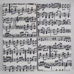 4 Ceramic Coasters in Musical Score Print